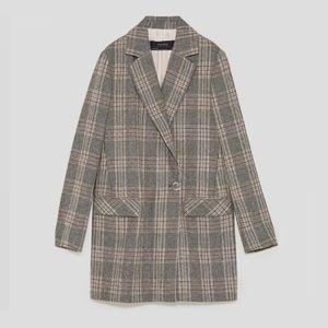 Grey Plaid Zara blazer